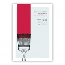 Red Paint Invitation