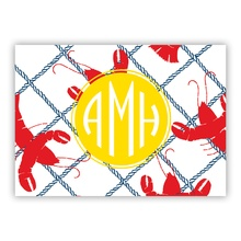 Rock Lobster small folded note