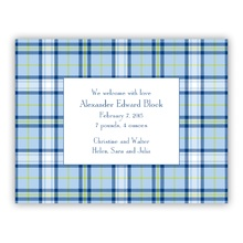 Small Flat - Blue Plaid (Announcement)