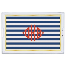 Classic Stripe Navy Large Tray
