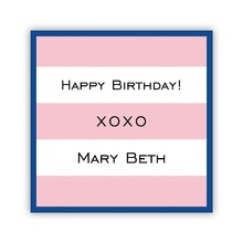Pink Stripe with Navy Border