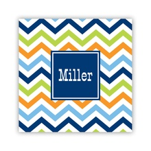 Chevron Blue, Orange & Lime Paper
