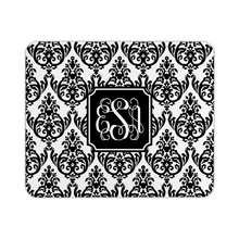 Madison Damask White with Black