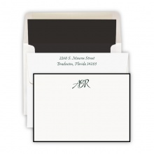 Hand Bordered Black Cards