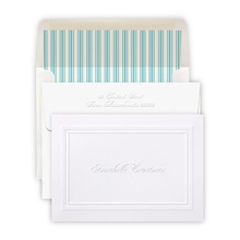 Embossed Border Folded Note