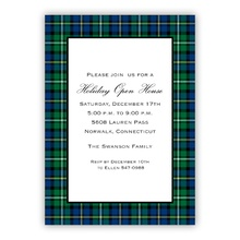 5x7 - Black Watch Plaid Holiday Invite