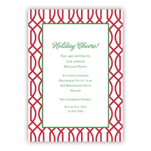 5x7 - Trellis Cherry Holiday Invite