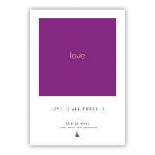 Love Foil Greeting Card