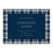 Navy Plaid Invite