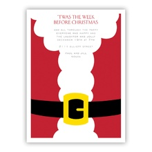 Santa Belly Invite