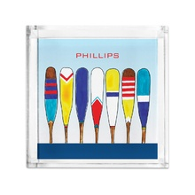 Lucite Tray Petite - Colorful Oars