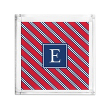 Lucite Tray Petite - Repp Tie Red & Navy