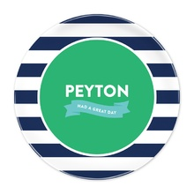 Navy Stripe Great Day Plate®