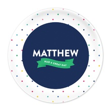 Navy Confetti Great Day Plate®