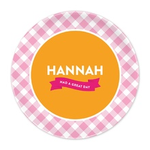 Pink Gingham Great Day Plate®