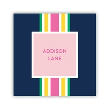 Ribbon Stripe Navy