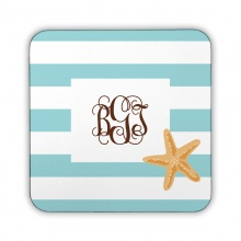 Stripe Starfish Corkback Coaster