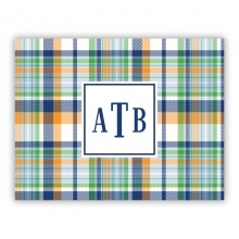 Classic Madras Plaid Navy & Orange
