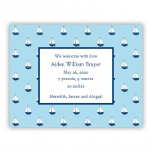 Little Sailboat (Invitation/Announcement)