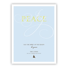 Peace & Joy Greeting Card