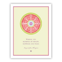 Red Medallion Greeting Card