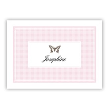 Pink Gingham (small folded note)