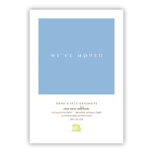 Moved Blue Invitation