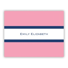 Light Pink & Navy Stripe