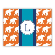 Elephants Ribbon in Orange