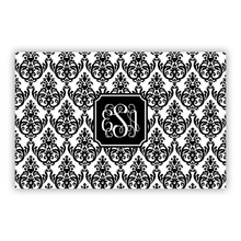 Madison Damask White with Black (Large)