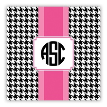 Alex Houndstooth Black (Square)