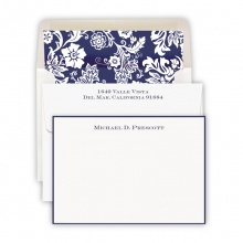 HAND BORDERED CARDS - NAVY BLUE