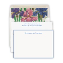 Hand Bordered Cards Periwinkle Cards