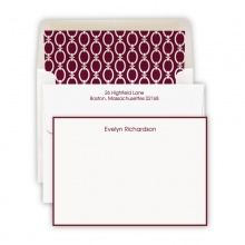 Hand Bordered Wine Cards