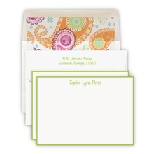 Hand Bordered Apple Green Cards