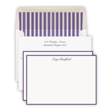 Hand Bordered Purple Cards