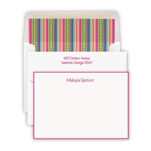Hand Bordered Hot Pink Cards