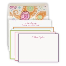 Hand Bordered Colorful Set