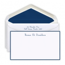 Hand Bordered Slender Navy Cards