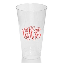 16 Oz. Clear Tumblers - Monogram ONLY (Set of 50)