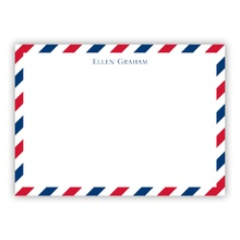 A6 Flat Card - Via Red & Blue (Stationery)