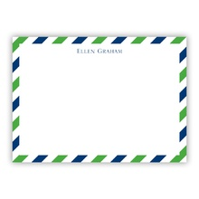 A6 Flat Card - Via Green & Blue (Stationery)