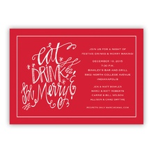 5x7 - Eat Drink Be Merry Holiday Invite