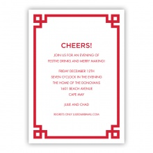 5x7 - Corner Key Red Holiday Invite