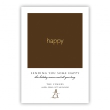 Happy Foil Greeting Card