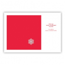 Snowflake Foil Greeting Card