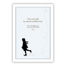 Ice Path Foil Greeting Card