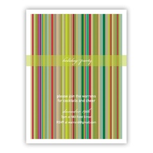 Stripes Vertical Invitation