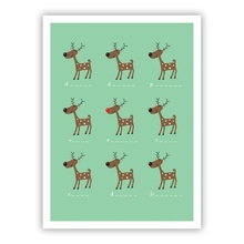 Reindeer Fun (Folded)