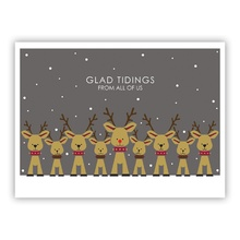 Reindeer Family Grey (Folded)